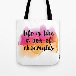 Box of chocolates Tote Bag