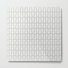Pineapple Pattern | Gray | Minimalism | Tropical Print Metal Print