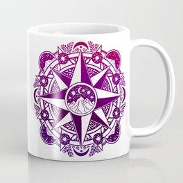Journey to Moon Mountain | Purple & Magenta Ombré Coffee Mug