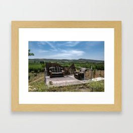 Calm place to relax Framed Art Print