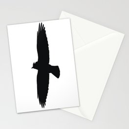 Jackdaw In Flight Silhouette Stationery Cards