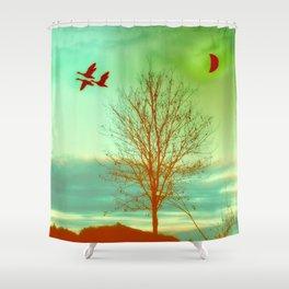 bird flight Shower Curtain