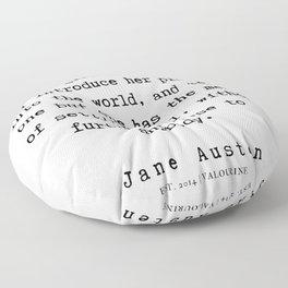 26      Jane Austen Quotes   190722 Floor Pillow