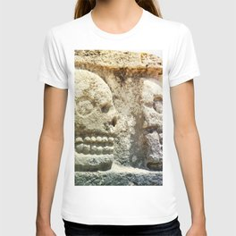 Mayan Stone Skulls T-shirt