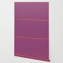 Vintage Beach Stripes Wallpaper