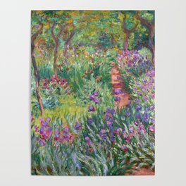 The Iris Garden at Giverny by Claude Monet Poster