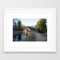 cabin Framed Art Prints featuring Cabin by glomung