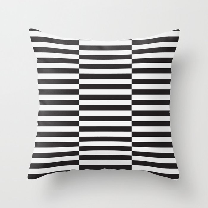 Ikea Stockholm Rug Pattern Black Stripe Throw Pillow