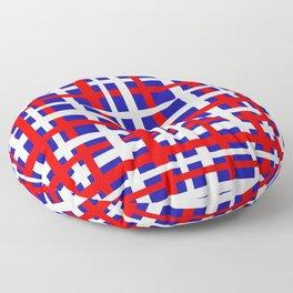 Patriotic Interlocking Stripes Floor Pillow