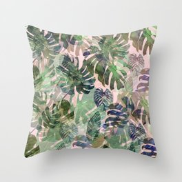tropical confusion Throw Pillow