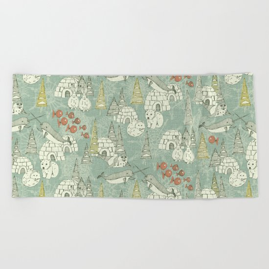 arctic retro Beach Towel