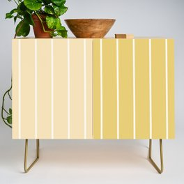 Two Tone Stripes - Yellow Credenza