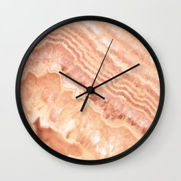Champagne onyx marble Wall Clock