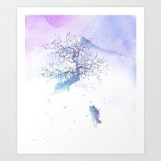 The long way to Fuji Art Print
