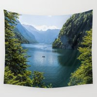 religion Wall Tapestries featuring Germany, Malerblick, Koenigssee Lake III by UtArt