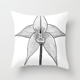Black Orchid Throw Pillow