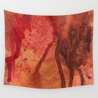 wine Wall Tapestries featuring Spilled Wine by Andrea Gingerich