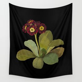 Primula Auricula by Mary Delany Paper Collage Floral Flower Botanical Paper Mosaic Vintage Scientifi Wall Tapestry