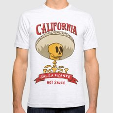California Hot Sauce Mens Fitted Tee X-LARGE Ash Grey
