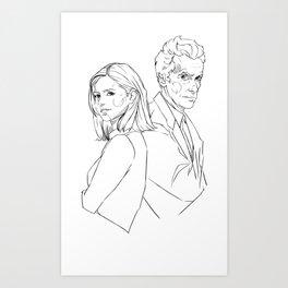 Doctor and Clara Version 2 Art Print
