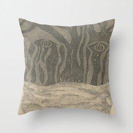 Silenced Throw Pillow
