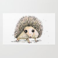 hedgehog Area & Throw Rugs featuring Hedgehog by Bwiselizzy