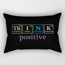 Think Positive quote by Molecules Rectangular Pillow