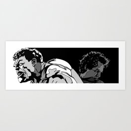 Black and White Pen Work Art Print