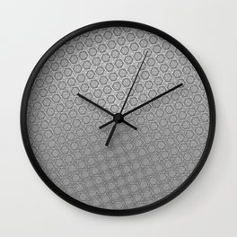 d20 Iron Weapon Critical Hit Pattern Wall Clock