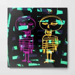 los esqueletos  Metal Print