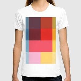 Chromatic squares T-shirt