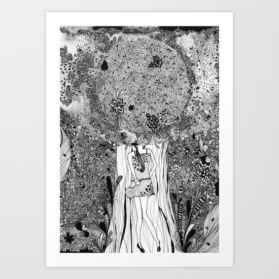 Under The Tree Art Print