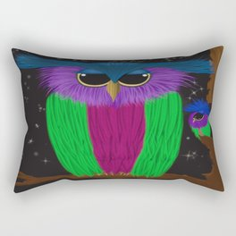 The Prismatic Crested Owl Rectangular Pillow