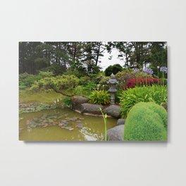 Japanese Garden Lantern Metal Print