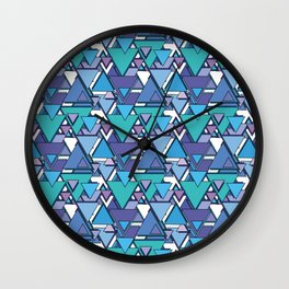 Triangle Pattern I Wall Clock