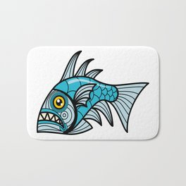Escher Fish pattern I Bath Mat