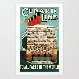 Cunard Line Art Print