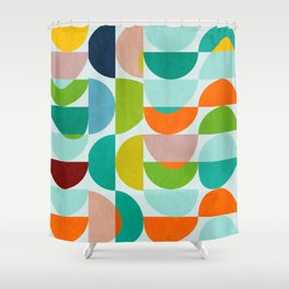 shapes abstract III Shower Curtain