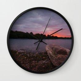 Sunrise Glow At Chasewater Wall Clock