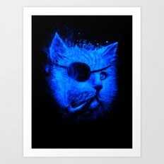 Irie Eye Blue Art Print