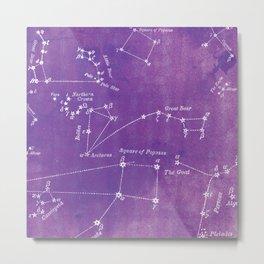 Purple Constellation Metal Print