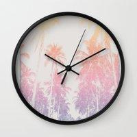 tropical Wall Clocks featuring tropical by ulas okuyucu
