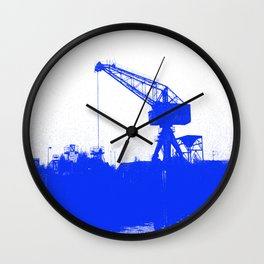 M A N Canal Port Crane Wall Clock