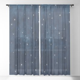 Whispers in the Galaxy Sheer Curtain