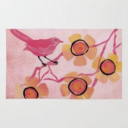 Pink Bird Rug