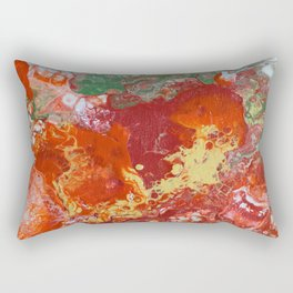 Red Bubbles  Rectangular Pillow