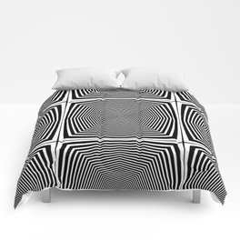 Black an White Hypnosis Comforters