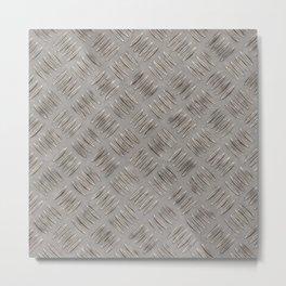 Metal diamond plate Metal Print