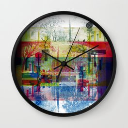 Remembering rushing through but without obstacles. [CMYK] Wall Clock