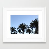 palms Framed Art Prints featuring Palms by Nora Soliman
